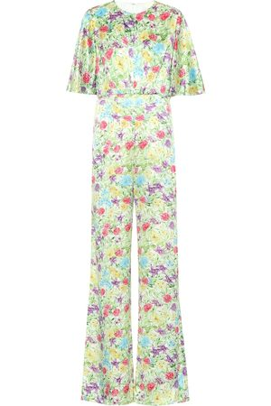 Les Rêveries Floral silk jumpsuit