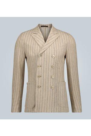 THEGIGI Ziggy striped double-breasted blazer