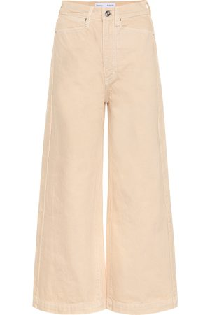 Proenza Schouler High-rise wide cotton pants