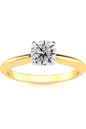 SuperJeweler 3/4 Carat Round Shape Diamond Solitaire Ring in (F-G Color