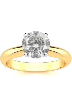SuperJeweler 1.5 Carat Diamond Solitaire Engagement Ring in 14K (
