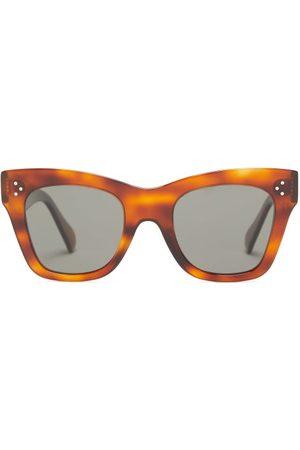 Celine Eyewear Square Tortoiseshell-acetate Sunglasses - Womens - Tortoiseshell