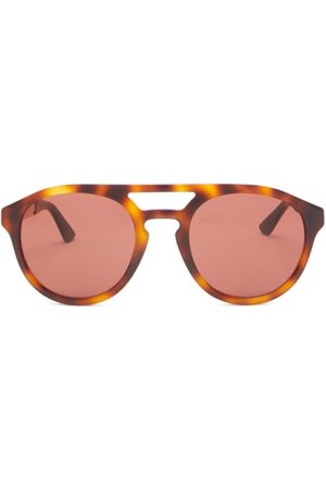 Gucci Aviator Tortoiseshell-acetate And Metal Sunglasses - Mens