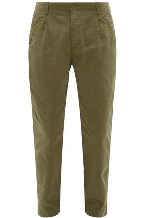 Folk Men Chinos - Assembly Cotton-canvas Trousers - Mens - Khaki