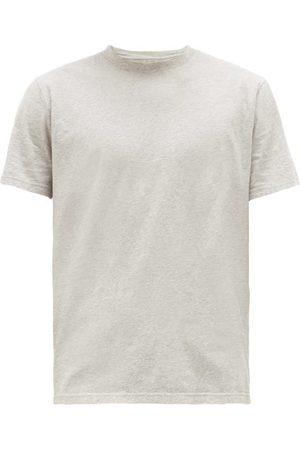 Folk Assembly Logo-patch Cotton T-shirt - Mens - Grey