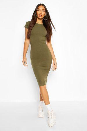 Boohoo Womens Cap Sleeve Bodycon Midi Dress - - 6