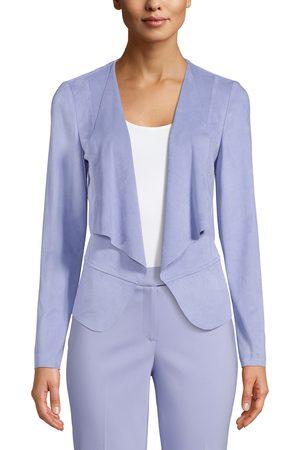 Anne Klein Women's Drape Front Faux Suede Jacket