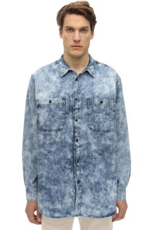 Isabel Marant Men Casual - Oversize Bleached Cotton Denim Shirt