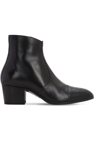 Dsquared2 Men Ankle Boots - 60mm Zip-up Leather Ankle Boots