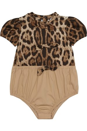 Dolce & Gabbana Baby leopard-print cotton bodysuit