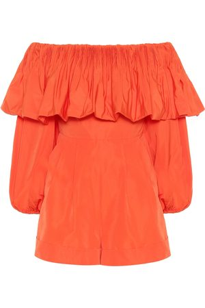 VALENTINO Cotton-blend playsuit