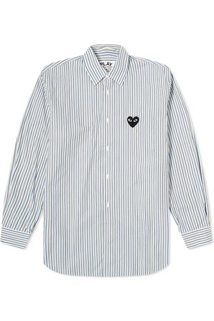 Comme des Garçons Black Men Shirts - Comme des Garcons Play Black Heart Multi Stripe Shirt