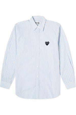 Comme des Garçons Black Comme des Garcons Play Black Heart Multi Stripe Shirt