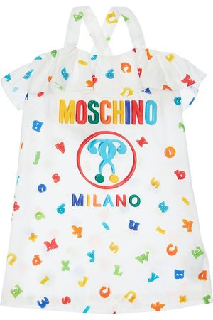 Moschino All Over Print Cotton Poplin Dress