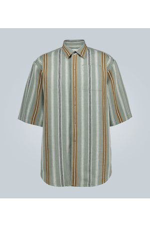 Jil Sander Ash linen-blend short-sleeved shirt