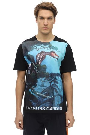 VALENTINO Dragon Garden Printed Cotton T-shirt