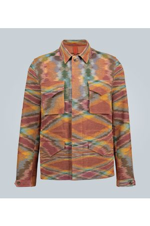 Missoni Linen-blend knitted overshirt