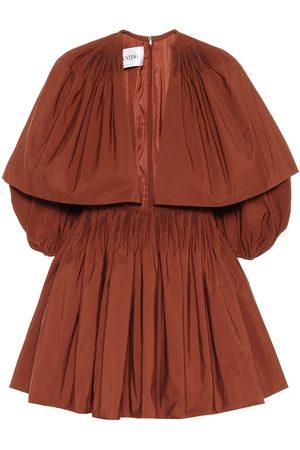 VALENTINO Cotton-blend faille minidress