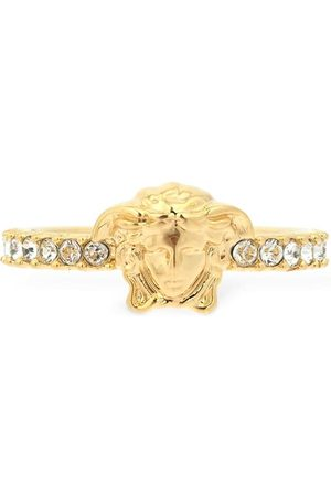VERSACE Women Rings - Slim Medusa Palazzo Crystal Ring
