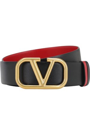 VALENTINO GARAVANI 40mm Go Logo Reversible Leather Belt