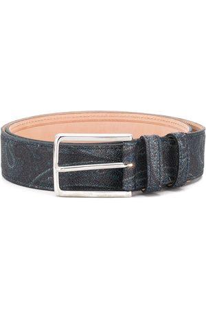 Etro Men Belts - Paisley print belt