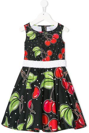 MONNALISA Sleeveless cherry print dress