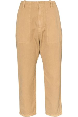 NILI LOTAN Cropped tapered trousers