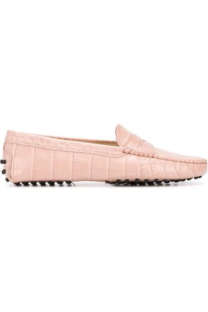 Tod's Gommino crocodile embossed loafers