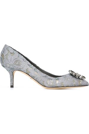 Dolce & Gabbana Women Heels - Belluci Taormina lace pumps - Grey