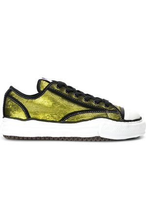 Maison Mihara Yasuhiro Sequin-embroidered lace-up sneakers