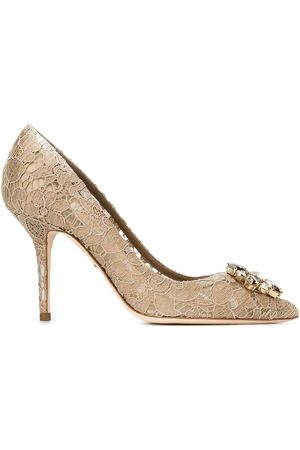 Dolce & Gabbana Women Heels - Belluci Taormina lace pumps - Neutrals