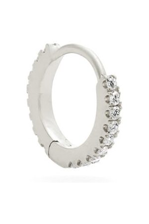 Maria Tash Women Hoop - Eternity Diamond & 18kt White Gold Earring - Womens