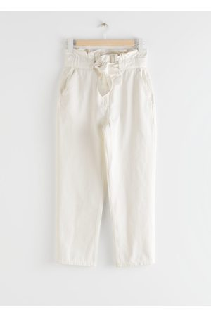& OTHER STORIES High Rise Paperbag Waist Denim Trousers