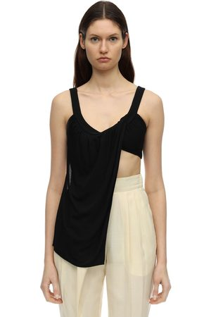Proenza Schouler Draped Matte Jersey Sleeveless Top