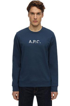 A.P.C Vintage Logo Print Cotton Sweatshirt