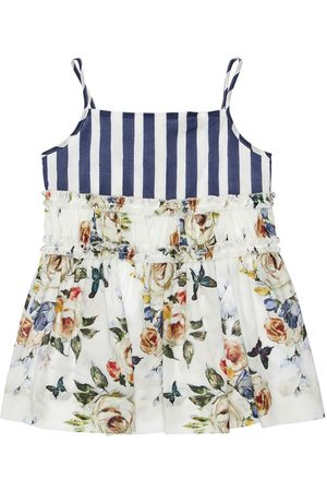 MONNALISA Floral Printed Cotton Muslin Tank Top