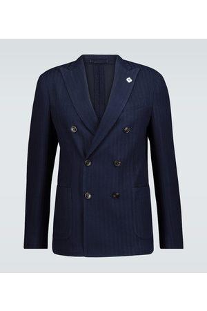 LARDINI Knitted cotton-blend blazer