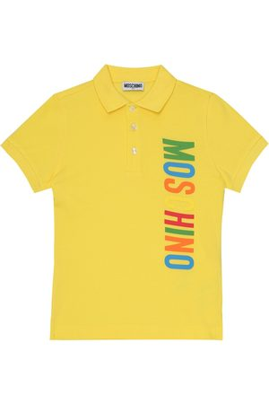 Moschino Logo cotton-piqué polo shirt