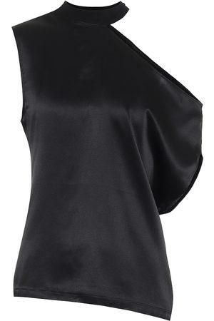 RTA Axel one-shoulder silk top