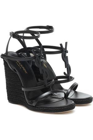 Saint Laurent Cassandra 115 espadrille wedges