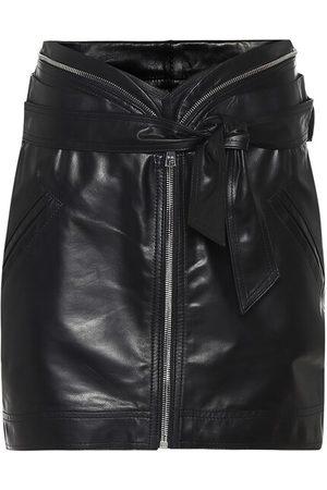RTA Suri leather miniskirt