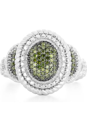 SuperJeweler Women Rings - 1/3 Carat Pave Diamond Lux Ring in Sterling Silver
