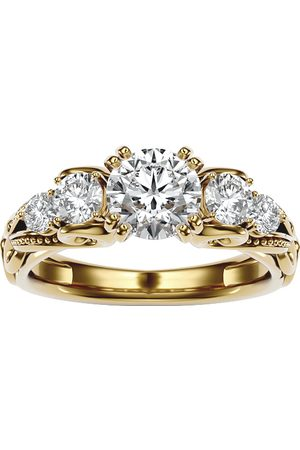 SuperJeweler 2 Carat Vintage Diamond Engagement Ring in 14K (4.70 g) (