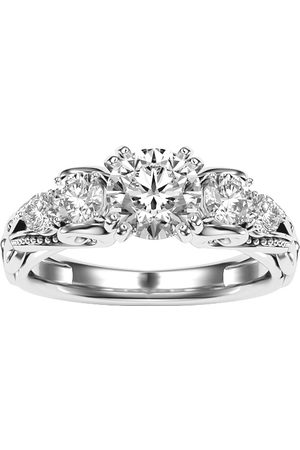 SuperJeweler 2 Carat Vintage Moissanite Engagement Ring in 14K (4.70 g)
