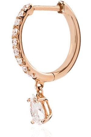 Anita 18kt rose diamond hoop earring
