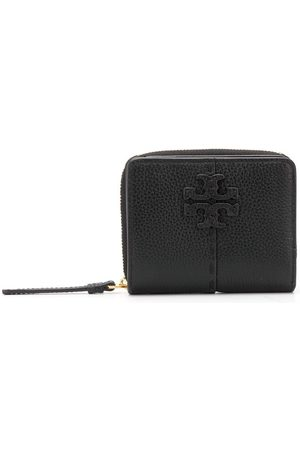 Tory Burch Women Wallets - Logo plaque zipped leather purse