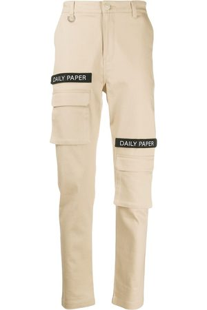 Daily paper Cargo Pants - Logo patch cargo pants - Neutrals
