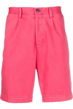 HUGO BOSS Men Shorts - Pleated-front chino shorts