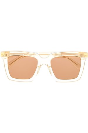 Bottega Veneta Square-frame sunglasses - Neutrals