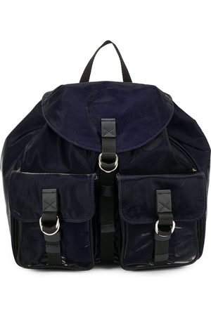 Mr & Mrs Italy Buckled pocket patent backpack